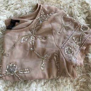 Intciate beading & sequence top